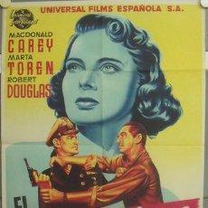 Cine: NO38 EL SUBMARINO FANTASMA MACDONALD CAREY MARTA TOREN POSTER ORIGINAL ESTRENO 70X100 LITOGRAFIA. Lote 24595158