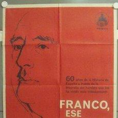 Cine: NO70 FRANCO ESE HOMBRE POSTER ORIGINAL 70X100 DEL ESTRENO. Lote 24610138