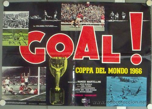 Cine: NP06 GOL GOAL COPA DEL MUNDO 1966 FUTBOL 2 POSTERS de CINE ORIGINAL ITALIANO 68X94 - Foto 2 - 24631899