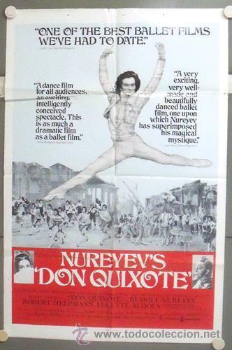 NP09 DON QUIXOTE / DON QUIJOTE RUDOLF NUREYEV BALLET CERVANTES POSTER ORIGINAL AMERICANO 70X105 (Cine - Posters y Carteles - Musicales)
