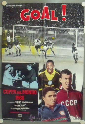 NP06 GOL GOAL COPA DEL MUNDO 1966 FUTBOL 2 POSTERS DE CINE ORIGINAL ITALIANO 68X94 (Cine - Posters y Carteles - Deportes)
