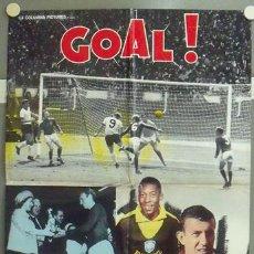 Cine: NP06 GOL GOAL COPA DEL MUNDO 1966 FUTBOL SET 2 POSTERS DE CINE ORIGINALES ITALIANOS 68X94. Lote 24631899