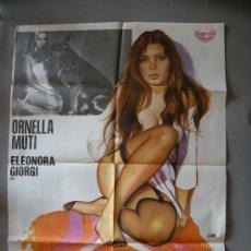 Cine: CARTEL DE CINE ORIGINAL. PELICULA PERVERSA ORNELLA MUTI AÑO 1971. JANO. Lote 24650679