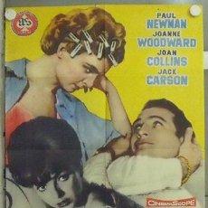 Cine: RR79D UN MARIDO EN APUROS PAUL NEWMAN JOANNE WOODWARD JOAN COLLINS POSTER ORIGINAL 70X100 ESTRENO. Lote 24658499