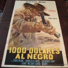 Cine: POSTER ORIGNAL ARGENTINO MILLE DOLLARI SUL NERO BLOOD AT SUNDOWN BAÑO DE SANGRE AL SALIR EL SOL 1966. Lote 24698173