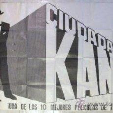Cine: CIUDADANO KANE ESTRENO EN ESPAÑA 3 OJAS RARO MIDE 210X100. Lote 84656099