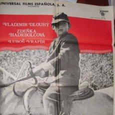 Cine: CARTEL DE LA PELICULA: OTRA VEZ SALTO SOBRE LOS CHARCOS. DIRECTOR KAREL KACHYÑA. Lote 24803464