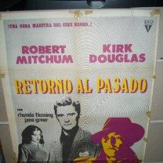 Cine: RETORNO AL PASADO ROBERT MITCHUM KIRK DOUGLAS JACQUES TOURNEUR POSTER ORIGINAL 70X100 Q. Lote 27268040