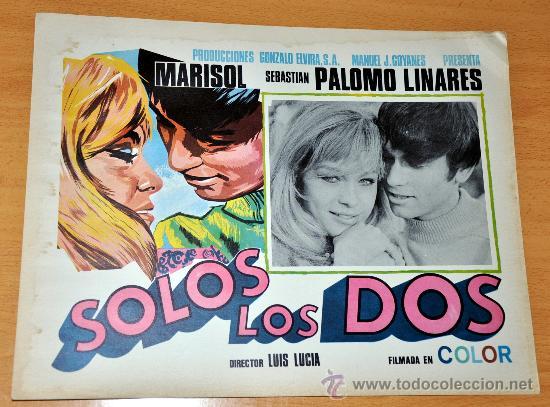 MARISOL Y PALOMO LINARES - SOLOS LOS DOS - AFICHE CARTELERA CINE / LOBBY CARD ORIGINAL 1968 - 38X29 (Cine - Posters y Carteles - Musicales)