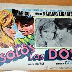 Cine: MARISOL Y PALOMO LINARES - SOLOS LOS DOS - AFICHE CARTELERA CINE / LOBBY CARD ORIGINAL 1968 - 38X29. Lote 26580508