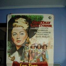 Cine: CARTEL DE CINE LOS TRES MOSQUETEROS (1948) GENE KELLY ,LANA TURNER. Lote 24880077