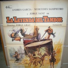 Cine: LA LEYENDA DEL TAMBOR JORGE SANZ JORGE GRAU POSTER ORIGINAL ESTRENO 70X100 WW. Lote 24913647
