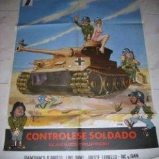 Cine: CARTEL DE LA PELICULA : CONTROLESE SOLDADO. 1978. PINTADO POR JANO.. ENVIO GRATIS¡¡¡. Lote 24919771
