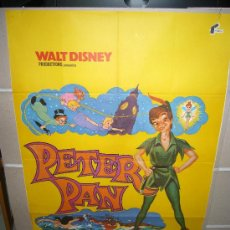 Cine: PETER PAN WALT DISNEY POSTER ORIGINAL 70X100. Lote 24934708