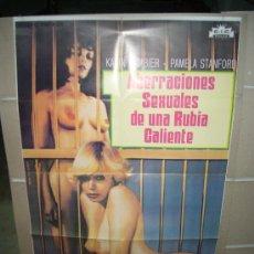 Cine: ABERRACIONES SEXUALES DE UNA RUBIA CALIENTE JESS FRANCO POSTER ORIGINAL 70X100 Q. Lote 26380399