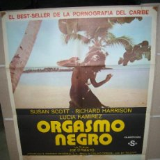 Cine: ORGASMO NEGRO JOE D´AMATO POSTER ORIGINAL 70X100 Q. Lote 24980819