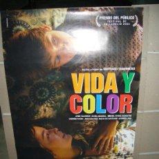Cine: VIDA Y COLOR POSTER ORIGINAL 70X100 WW. Lote 25761246