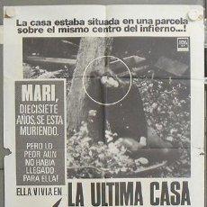 Cine: NR43 LA ULTIMA CASA A LA IZQUIERDA WES CRAVEN POSTER ORIGINAL ESTRENO 70X100. Lote 25047769