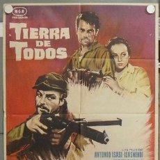Cine: NR49 TIERRA DE TODOS ANTONIO ISASI GUERRA CIVIL POSTER ORIGINAL 70X100 DEL ESTRENO. Lote 25089264