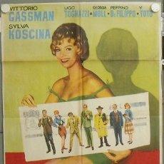 Cine: NR55 LA LETRA VITTORIO GASSMAN SYLVA KOSCINA TOTO POSTER ORIGINAL 70X100 ESTRENO. Lote 25089984