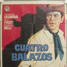Cine: NR68 CUATRO BALAZOS FERNANDO CASANOVA POSTER ORIGINAL 70X100 ESTRENO. Lote 25090649