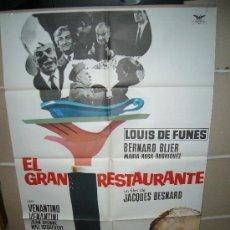 Cine: EL GRAN RESTAURANTE LOUIS DE FUNES POSTER ORIGINAL 70X100 Q. Lote 26508977