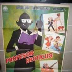 Cine: PROFESOR EROTICUS POSTER ORIGINAL 70X100 JANO Q. Lote 26594273