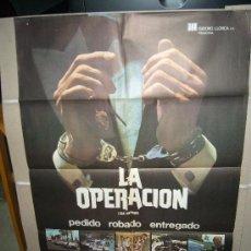 Cine: LA OPERACION POSTER ORIGINAL 70X100 . Lote 26739192