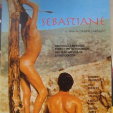 Cine: SEBASTIANE DEREK JARMAN - POSTER CARTEL ORIGINAL - TEMA GAY - LEONARDO TREVIGLIO LINDSAY KEMP. Lote 295455223