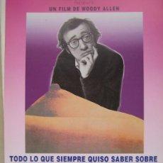 Cine: TODO LO QUE USTED SIEMPRE QUISO SABER SOBRE EL SEXO - POSTER CARTEL ORIGINAL - WOODY ALLEN. Lote 25217184