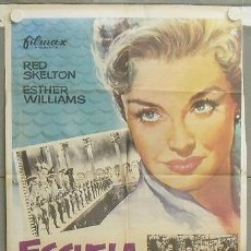 Cine: NS28 ESCUELA DE SIRENAS ESTHER WILLIAMS POSTER ORIGINAL ESPAÑOL 70X100 R-76. Lote 25220615