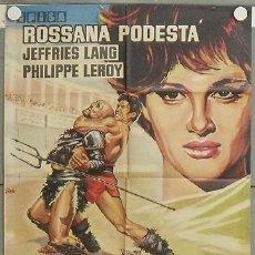 Cine: NS35 SOLO CONTRA ROMA ROSSANA PODESTA LANG JEFFRIES PEPLUM POSTER ORIGINAL 70X100 ESTRENO. Lote 25222170