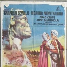 Cine: NS36 LOS AMANTES DEL DESIERTO CARMEN SEVILLA RICARDO MONTALBAN POSTER ORIGINAL ESPAÑOL 70X100. Lote 25222457