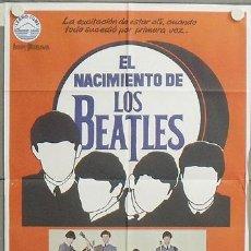 Cine: NS42 EL NACIMIENTO DE LOS BEATLES THE BEATLES POSTER ORIGINAL 70X100 ESTRENO. Lote 25223297