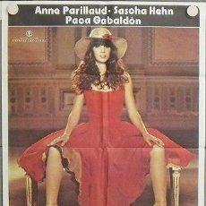 Cine: NS47 PATRIZIA ANNE PARILLAUD MARIA REY SEXY POSTER ORIGINAL 70X100 ESTRENO. Lote 25234957