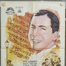 Cine: NS83 CARLOS GARDEL HISTORIA DE UN IDOLO TITO LUSIARDO POSTER ORIGINAL 70X100 ESTRENO. Lote 25261058