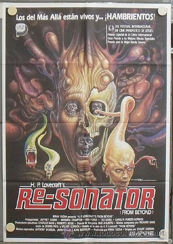 NS91 RE-SONATOR FROM BEYOND STUART GORDON H P LOVECRAFT MAC POSTER ORIGINAL 70X100 ESTRENO (Cine - Posters y Carteles - Terror)
