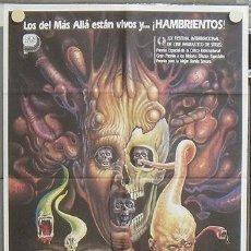 Cine: NS91 RE-SONATOR FROM BEYOND STUART GORDON H P LOVECRAFT MAC POSTER ORIGINAL 70X100 ESTRENO. Lote 105129742