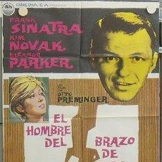 Cine: NS93 EL HOMBRE DEL BRAZO DE ORO FRANK SINATRA KIM NOVAK PREMINGER POSTER ORIG ESTRENO 70X100. Lote 25261981