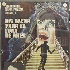 Cine: NS96 UN HACHA PARA LA LUNA DE MIEL MARIO BAVA POSTER ORIGINAL ESTRENO 70X100. Lote 25262062