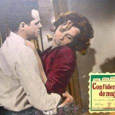 Cine: CARTEL DE CINE DE CARTÓN ANTIGUO (39 X 29 CM): CONFIDENCIAS DE UNA MUJER - JANE FONDA. Lote 25263518