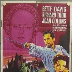 Cine: NT21 EL FAVORITO DE LA REINA BETTE DAVIS JOAN COLLINS SOLIGO POSTER ORIG 70X100 ESTRENO LITOGRAFIA. Lote 25281621