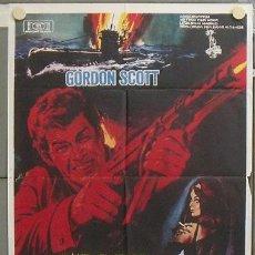 Cine: XB16D NIDO DE ESPIAS GORDON SCOTT POSTER ORIGINAL 70X100 ESTRENO. Lote 25281801