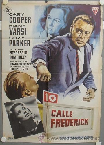 NT51 10 CALLE FREDERICK GARY COOPER SUZY PARKER MATAIX POSTER ORIGINAL 70X100 ESTRENO (Cine - Posters y Carteles - Acción)