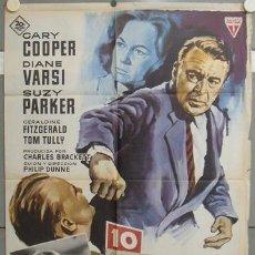 Cine: NT51 10 CALLE FREDERICK GARY COOPER SUZY PARKER MATAIX POSTER ORIGINAL 70X100 ESTRENO. Lote 25555876