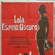 Cine: NT94 LOLA ESPEJO OSCURO EMMA PENELLA POSTER ORIGINAL 70X100 ESTRENO. Lote 25572532
