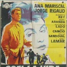 Cine: NT96 CON LA VIDA HICIERON FUEGO ANA MARISCAL GUERRA CIVIL POSTER 70X100 ESTRENO LITOGRAFIA. Lote 25572608