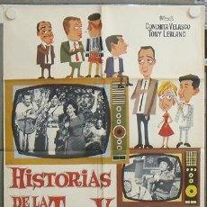 Cine: NU05 HISTORIAS DE LA TELEVISION CONCHA VELASCO TONY LEBLANC POSTER ORIGINAL 70X100 ESTRENO. Lote 25706798