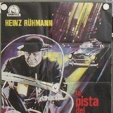 Cine: QA58 LA PISTA DEL CRIMEN HEINZ RÜHMAN PADRE BROWN POSTER ORIGINAL 70X100 ESTRENO. Lote 25708130