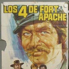 Cine: NU34 LOS CUATRO DE FORT APACHE STEPHEN BOYD GIANNI GARKO POSTER ORIGINAL 70X100 ESTRENO. Lote 25735360